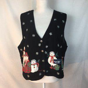 Vintage TanTrums Ugly Christmas Vest